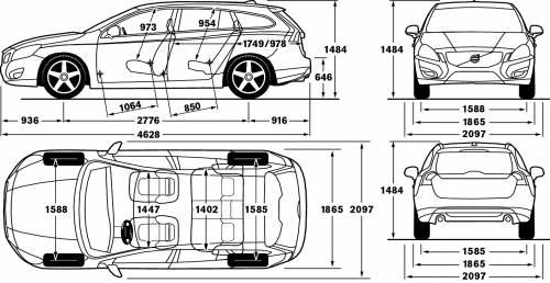 Volvo V60 Interior Dimensions. vw golf interior size www