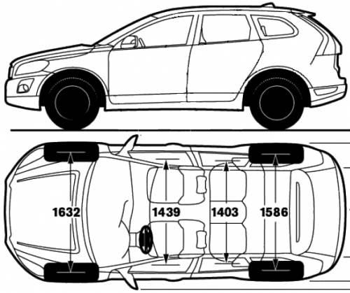 Blueprints > Cars > Volvo > Volvo XC60 (2009)