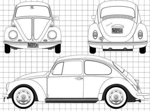 Blueprints > Cars > Volkswagen > Volkswagen Beetle 1200 (1968)