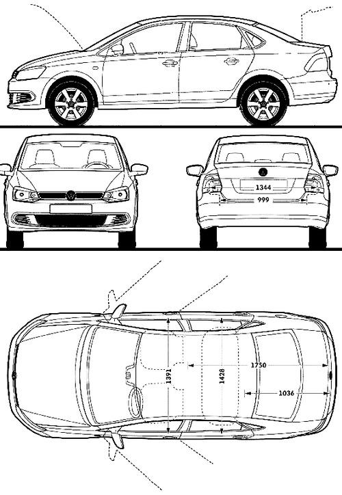 Blueprints > Cars > Volkswagen > Volkswagen CN Polo Sedan