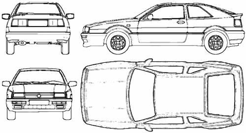 Blueprints > Cars > Volkswagen > Volkswagen Corrado (1992)