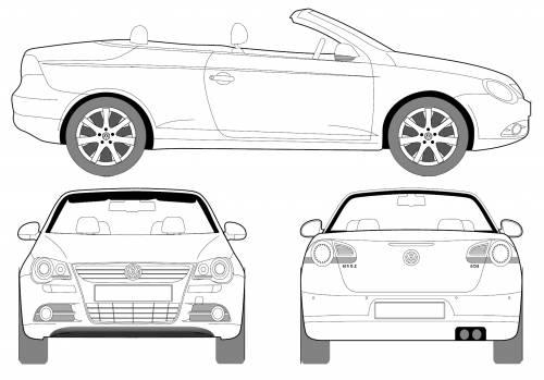 Blueprints > Cars > Volkswagen > Volkswagen EOS (2008)