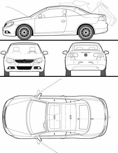 Blueprints > Cars > Volkswagen > Volkswagen Eos (2009)