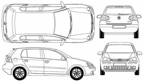 Blueprints > Cars > Volkswagen > Volkswagen Golf Mk. 5 5