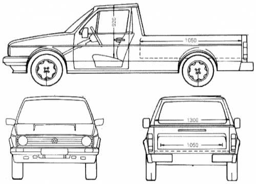 Blueprints > Cars > Volkswagen > Volkswagen Mk.1 Caddy (1990)