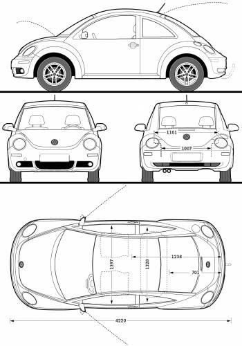 Blueprints > Cars > Volkswagen > Volkswagen New Beetle (2009)