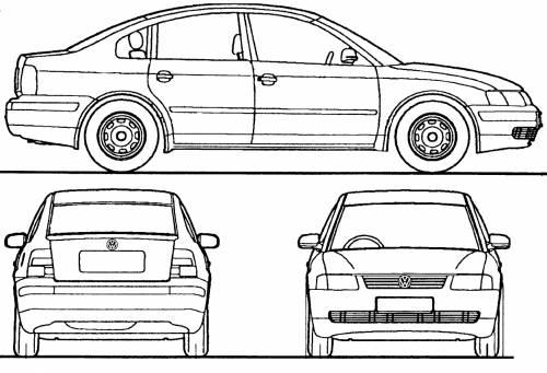 Blueprints > Cars > Volkswagen > Volkswagen Passat (2000)