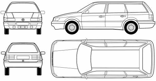 Blueprints > Cars > Volkswagen > Volkswagen Passat B4 Variant