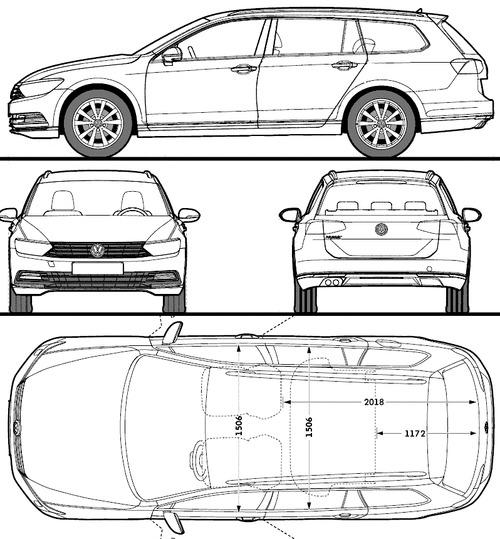 Blueprints > Cars > Volkswagen > Volkswagen Passat Variant
