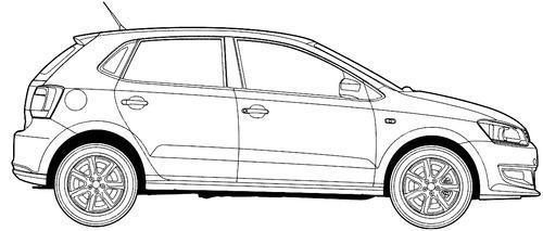 Blueprints > Cars > Volkswagen > Volkswagen Polo (2014)