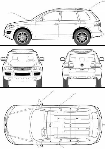 Blueprints > Cars > Volkswagen > Volkswagen Touareg R50 (2009)