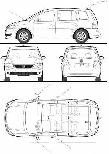 Blueprints > Cars > Volkswagen > Volkswagen Touran (2009)