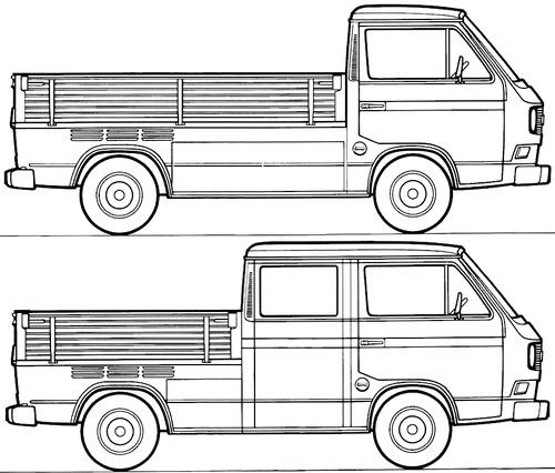 Blueprints > Cars > Volkswagen > Volkswagen Transporter T3