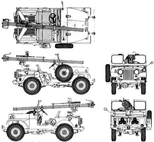 Blueprints > Cars > Willys > Willlys Jeep M38A1 + 106nn