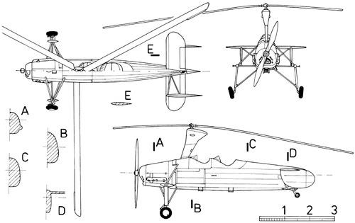 Blueprints > Helicopters > Helicopters H-M > Kayaba Ka-1
