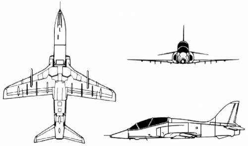 Blueprints > Modern airplanes > BAe > BAe Hawk