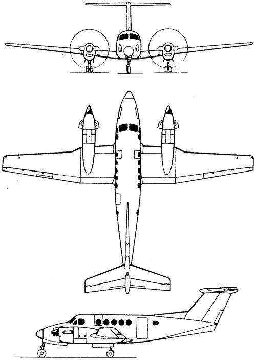 Blueprints > Modern airplanes > Beechcraft > Beechcraft