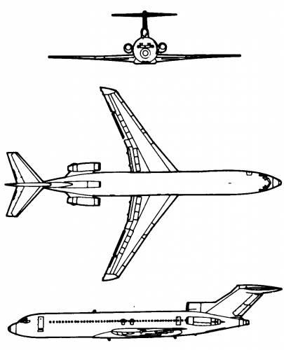 Blueprints > Modern airplanes > Boeing > Boeing 727