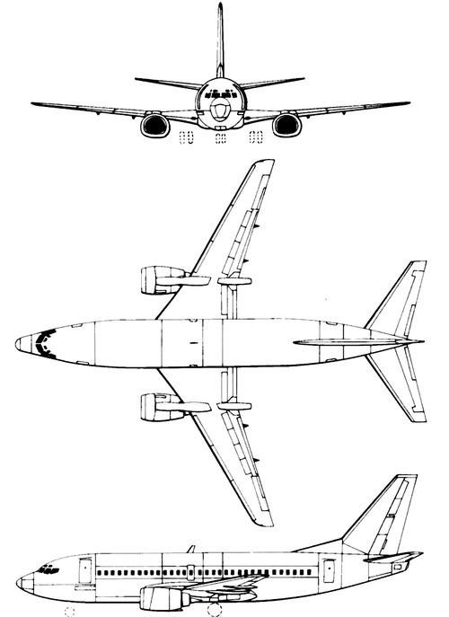 Blueprints > Modern airplanes > Boeing > Boeing 737
