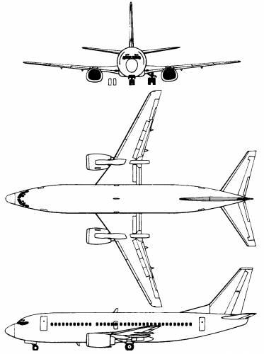 Blueprints > Modern airplanes > Boeing > Boeing 737-300