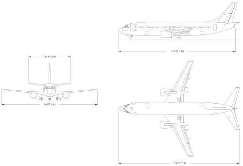 Blueprints > Modern airplanes > Boeing > Boeing 737-400