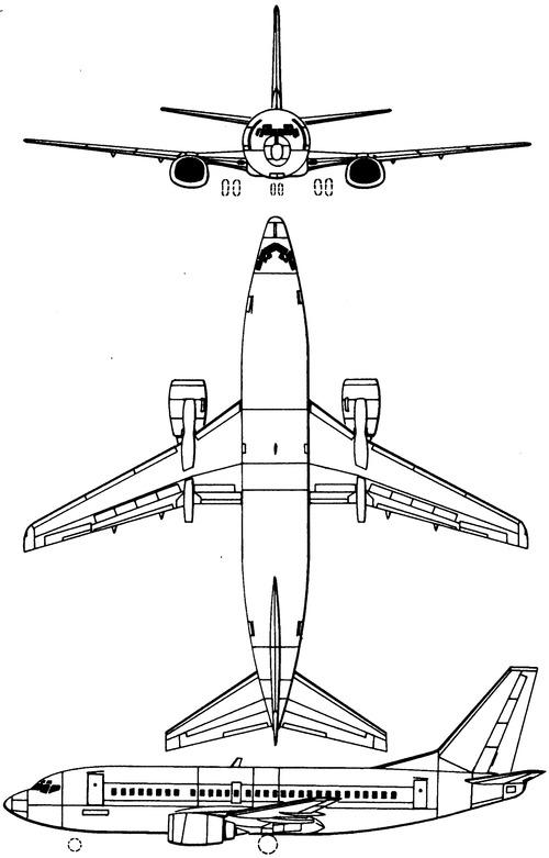 Blueprints > Modern airplanes > Boeing > Boeing 737-500