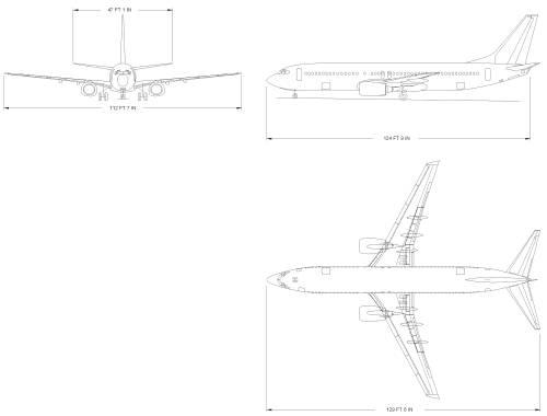 Blueprints > Modern airplanes > Boeing > Boeing 737-800