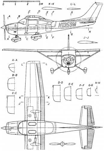 Blueprints > Modern airplanes > Cessna > Cessna 182 Skylane