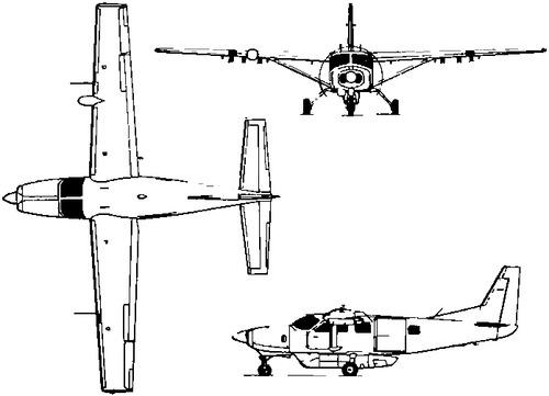 Blueprints > Modern airplanes > Cessna > Cessna 208