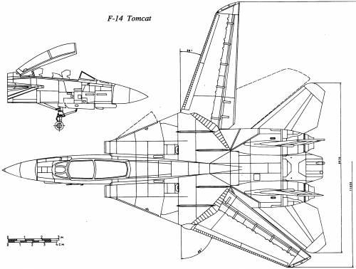 Blueprints > Modern airplanes > Grumman > Grumman F-14 Tomcat