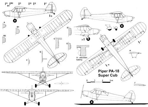 Blueprints > Modern airplanes > Piper > Piper Super Cub PA-18