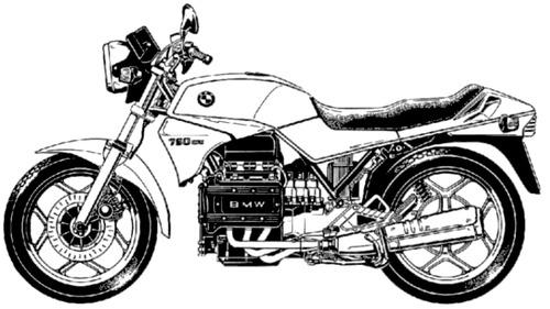 Blueprints > Motorcycles > BMW > BMW K75 (1985)