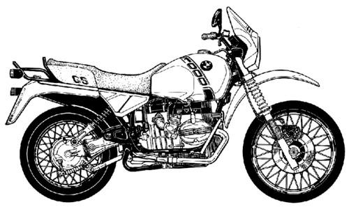 Blueprints > Motorcycles > BMW > BMW R100 GS (1987)