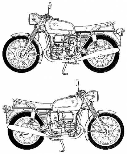 Blueprints > Motorcycles > BMW > BMW R75-5