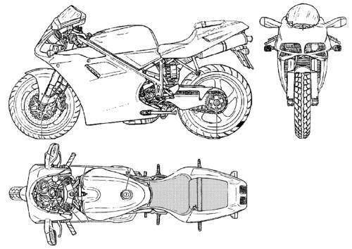 Blueprints > Motorcycles > Ducati > Ducati 748 / 996 (2000)