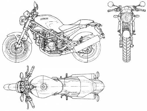 Blueprints > Motorcycles > Ducati > Ducati Monster