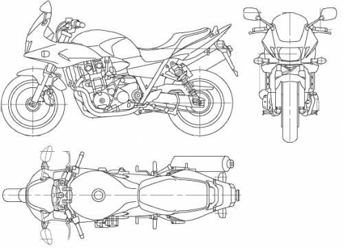 Blueprints > Motorcycles > Honda > Honda CB1300 Super Bol Ddor