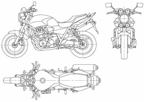 Blueprints > Motorcycles > Honda > Honda CB400 Super Four