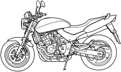 Blueprints > Motorcycles > Honda > Honda CB 600F Hornet (1995)