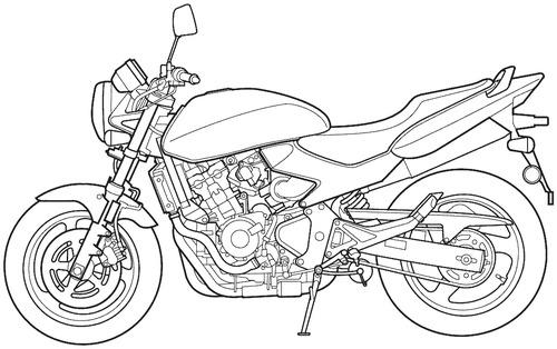 Blueprints > Motorcycles > Honda > Honda CB 600F Hornet (2004)