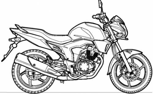 Blueprints > Motorcycles > Honda > Honda CB Trigger (2013)