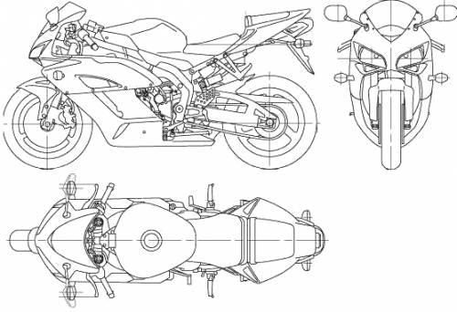 Blueprints > Motorcycles > Honda > Honda CBR1000RR (2006)
