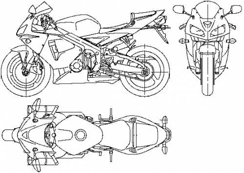 Blueprints > Motorcycles > Honda > Honda CBR600RR (2006)