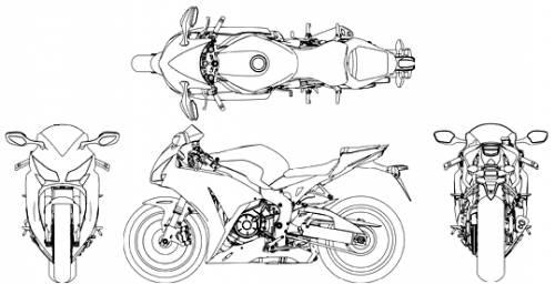 Honda cbr blueprints