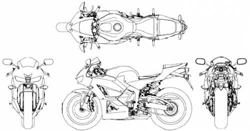 Blueprints > Motorcycles > Honda > Honda CBR 600 RR (2013)