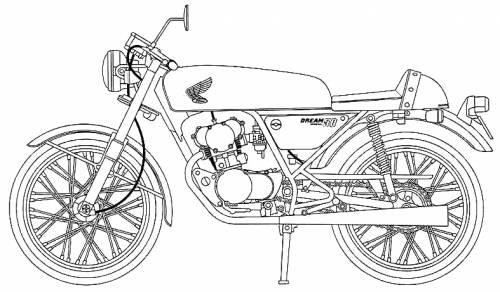 Blueprints > Motorcycles > Honda > Honda Dream 50 Special
