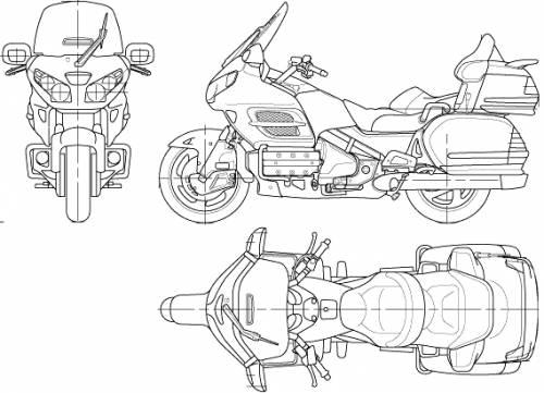 Blueprints > Motorcycles > Honda > Honda Goldwing 1800 (2006)