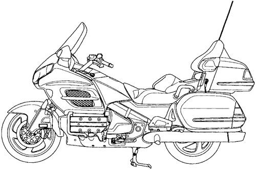 Blueprints > Motorcycles > Honda > Honda Goldwing GL1800