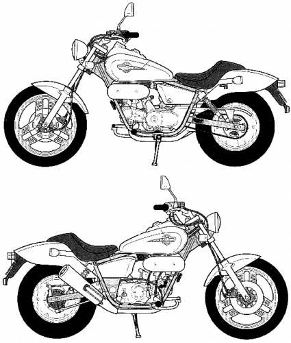 Blueprints > Motorcycles > Honda > Honda Magna 50 (1995)
