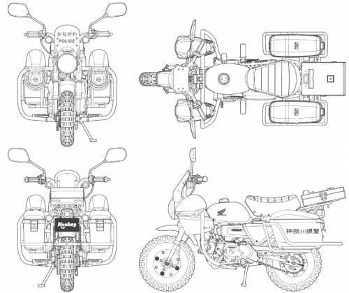 Blueprints > Motorcycles > Honda > Honda Monkey